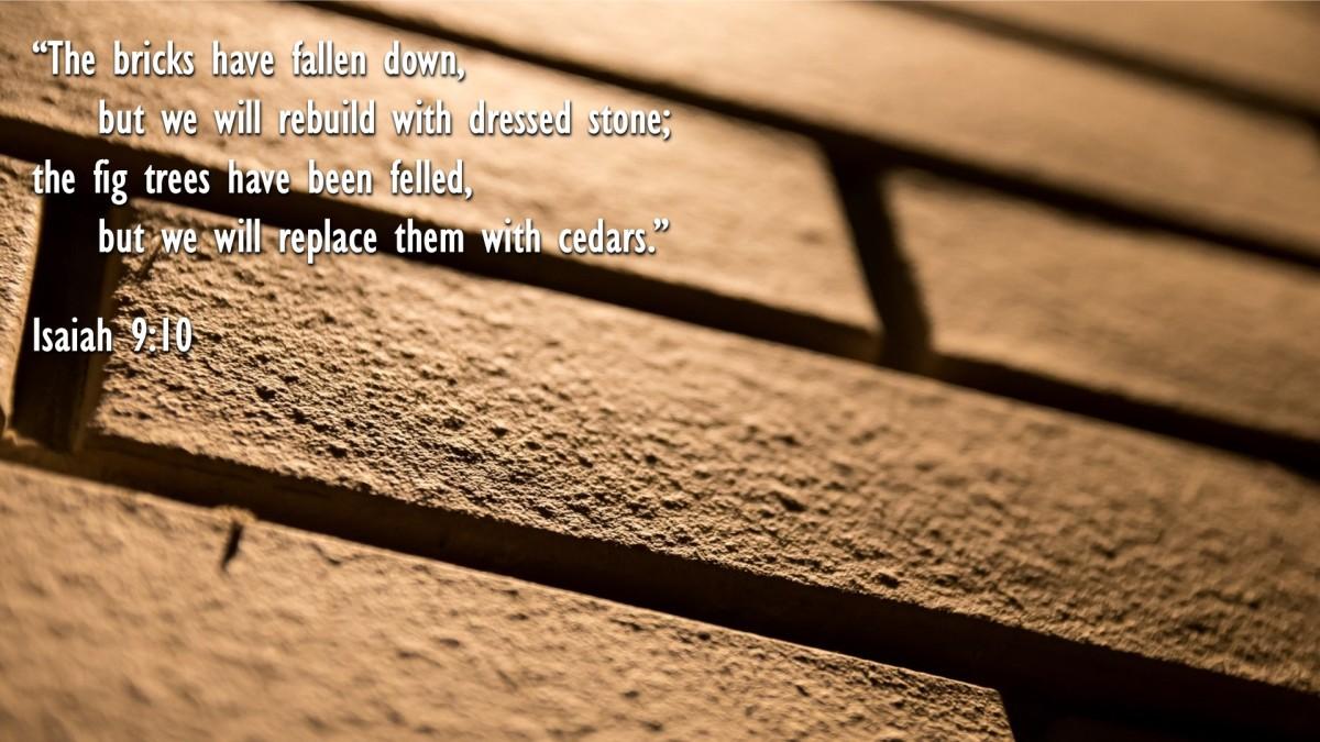 Isaiah 9:10